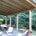 esterno tettoia con perline abete