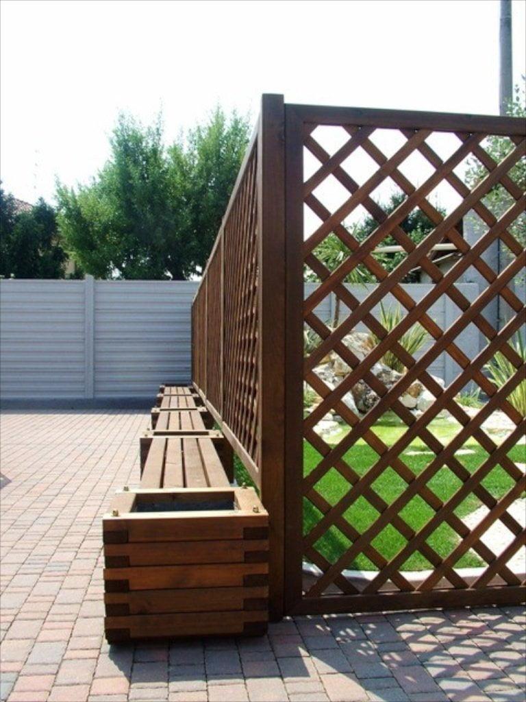 6 grigliati in pino trattato autoclave cereda legnami - Ringhiera in legno per giardino ...