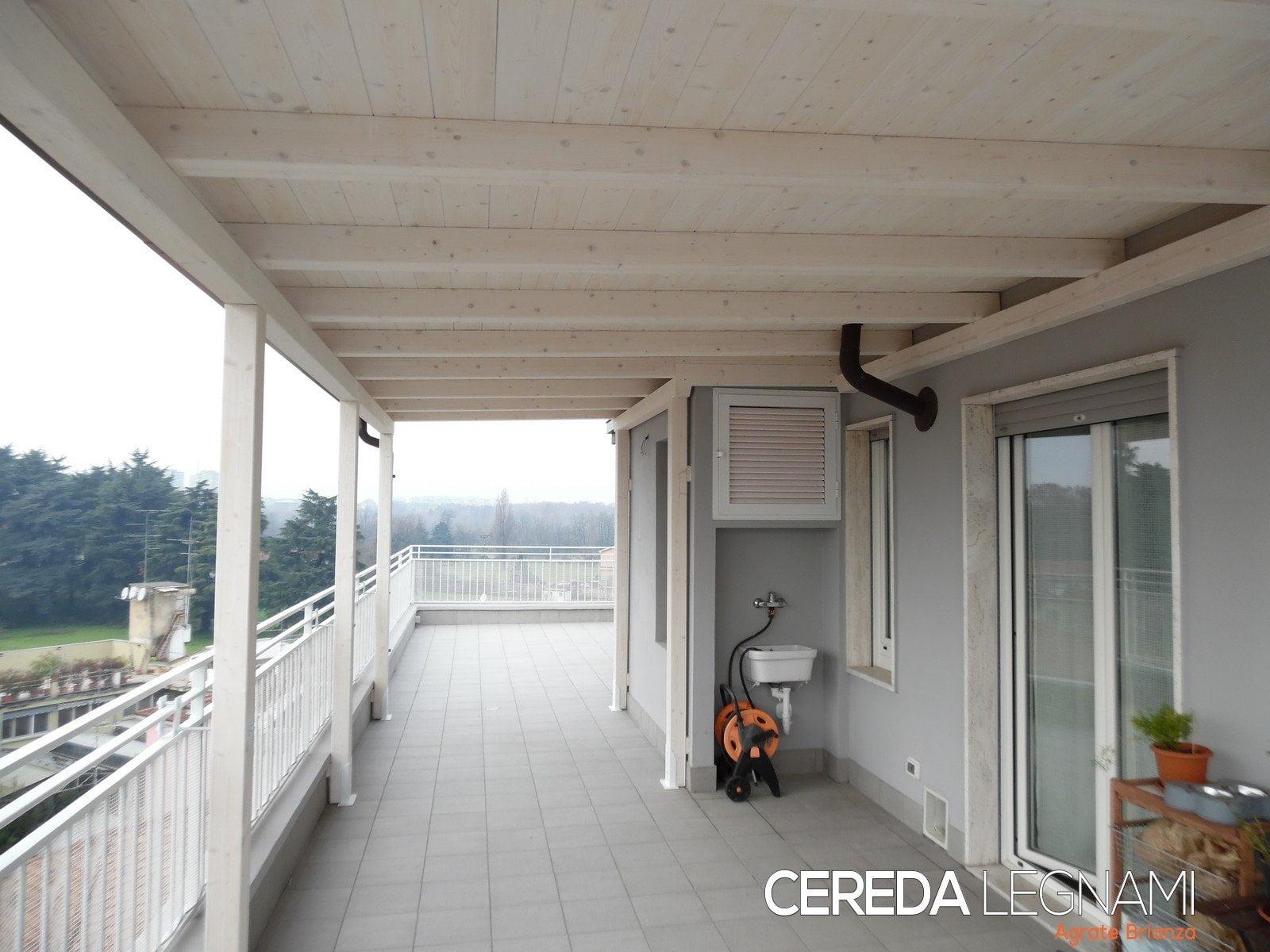 Bers in legno per terrazzi milano cereda legnami for Arredamento terrazzi milano