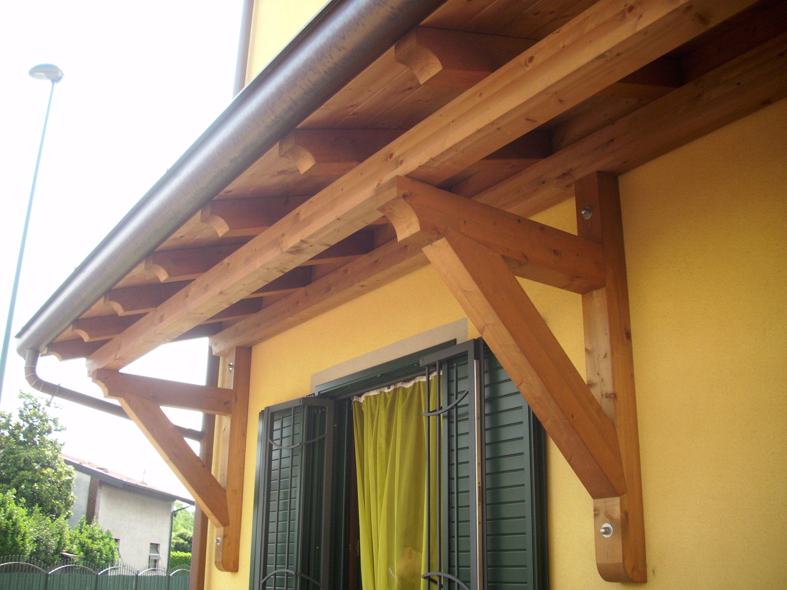 Pensilina in legno lamellare a sbalzo cologno monzese for Tettoie in legno leroy merlin