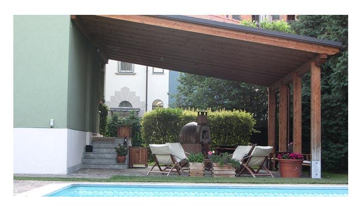 Tetti in legno tettoie pergole e pensiline milano e brianza - Tettoie per finestre ...