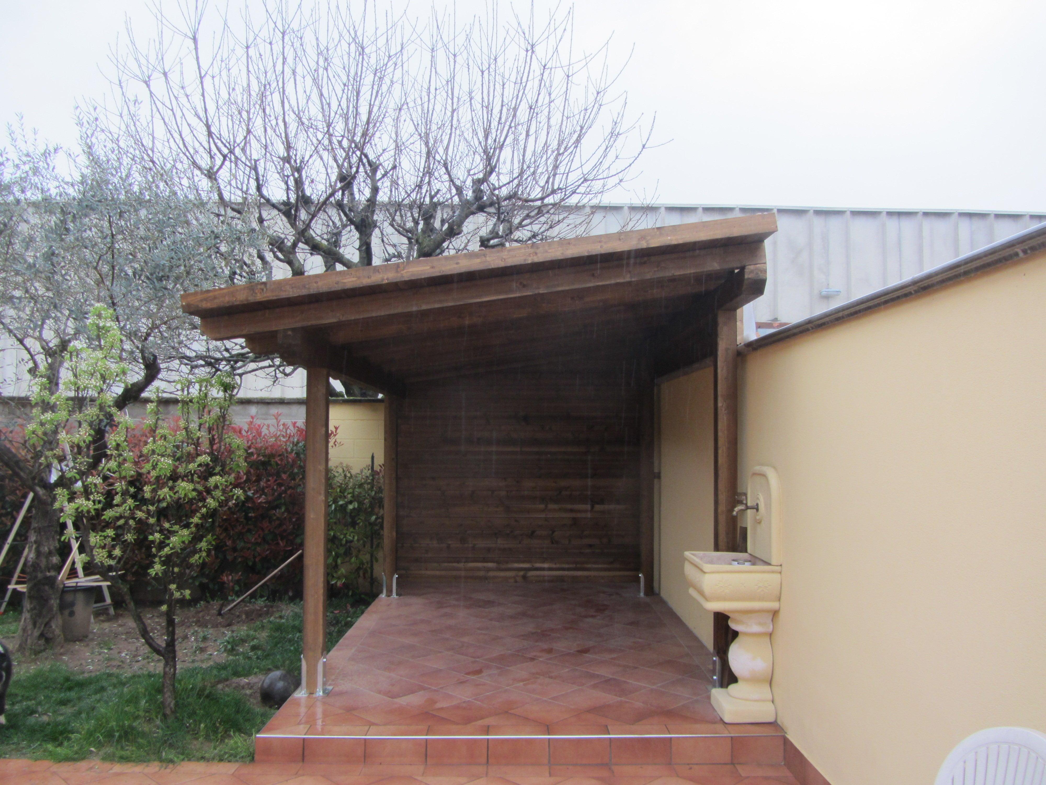Tettoia in legno per esterno biassono cereda legnami - Tettoie in legno per esterno ...