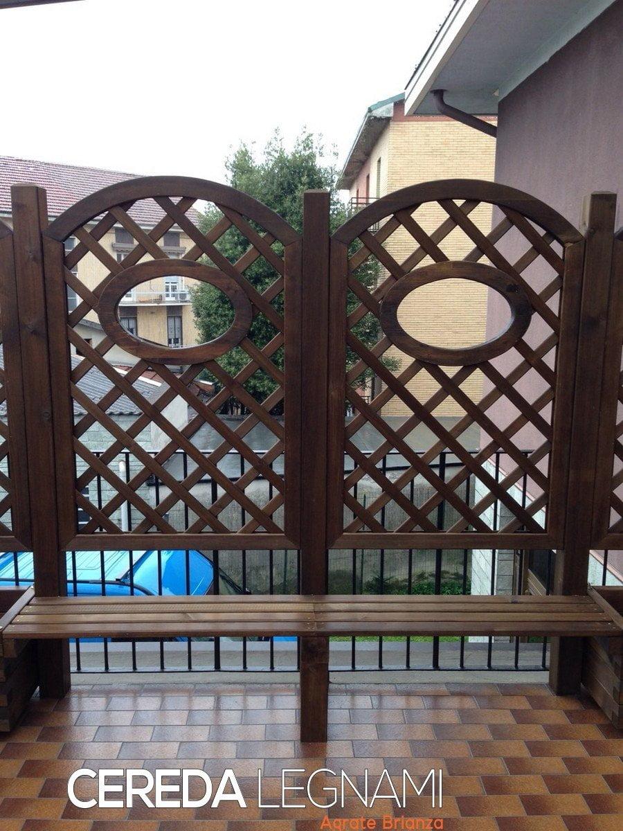 Griglie in legno per balconi con obl cereda legnami for Grate in legno per balconi