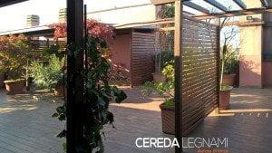tettoia in legno per terrazzo - Cereda Legnami Agrate Brianza