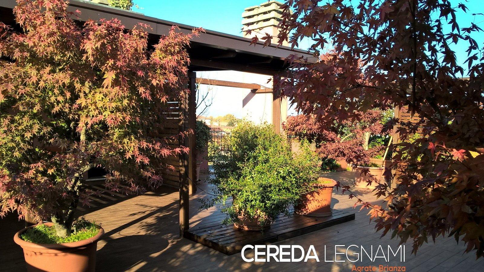 Pedana Di Legno Per Giardino tettoia in legno per terrazzo - cereda legnami agrate brianza