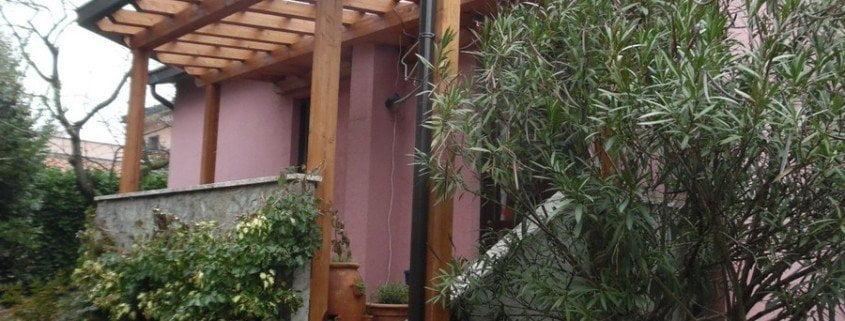 tettoia legno lamellare