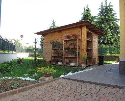 Casetta in legno a Milano