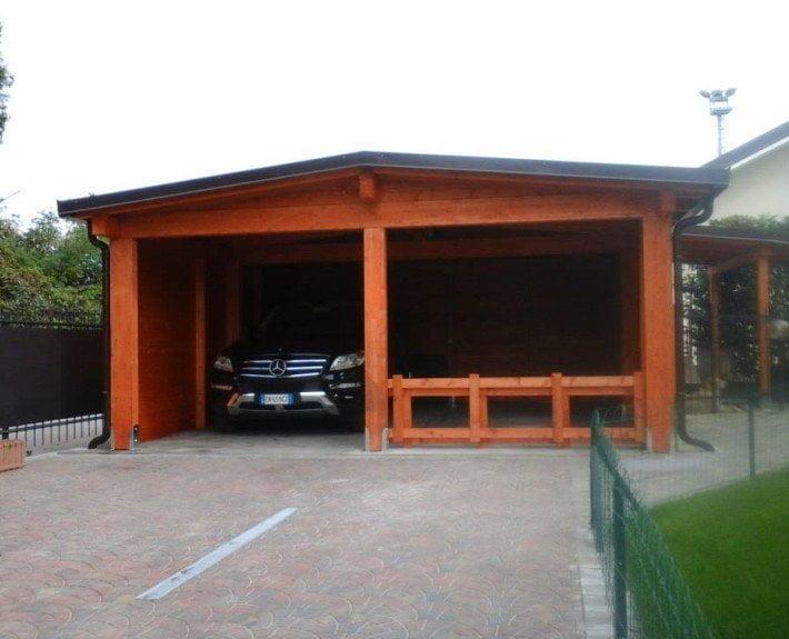 Alcune soluzioni di strutture in legno per esterno for Cereda legnami