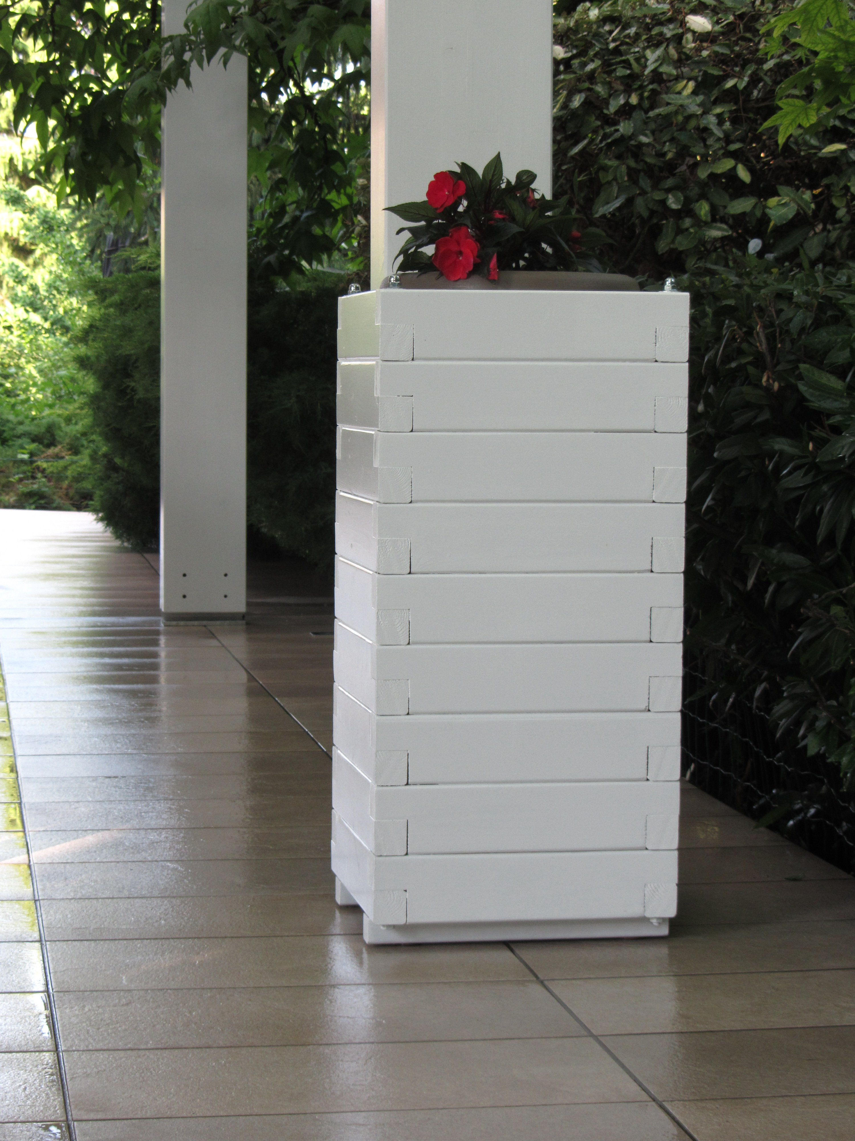 Fioriere Esterno Design Moderno : Pergola in legno autorportante