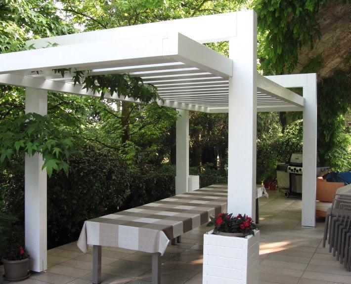 pergola in legno lamellare design per esterno