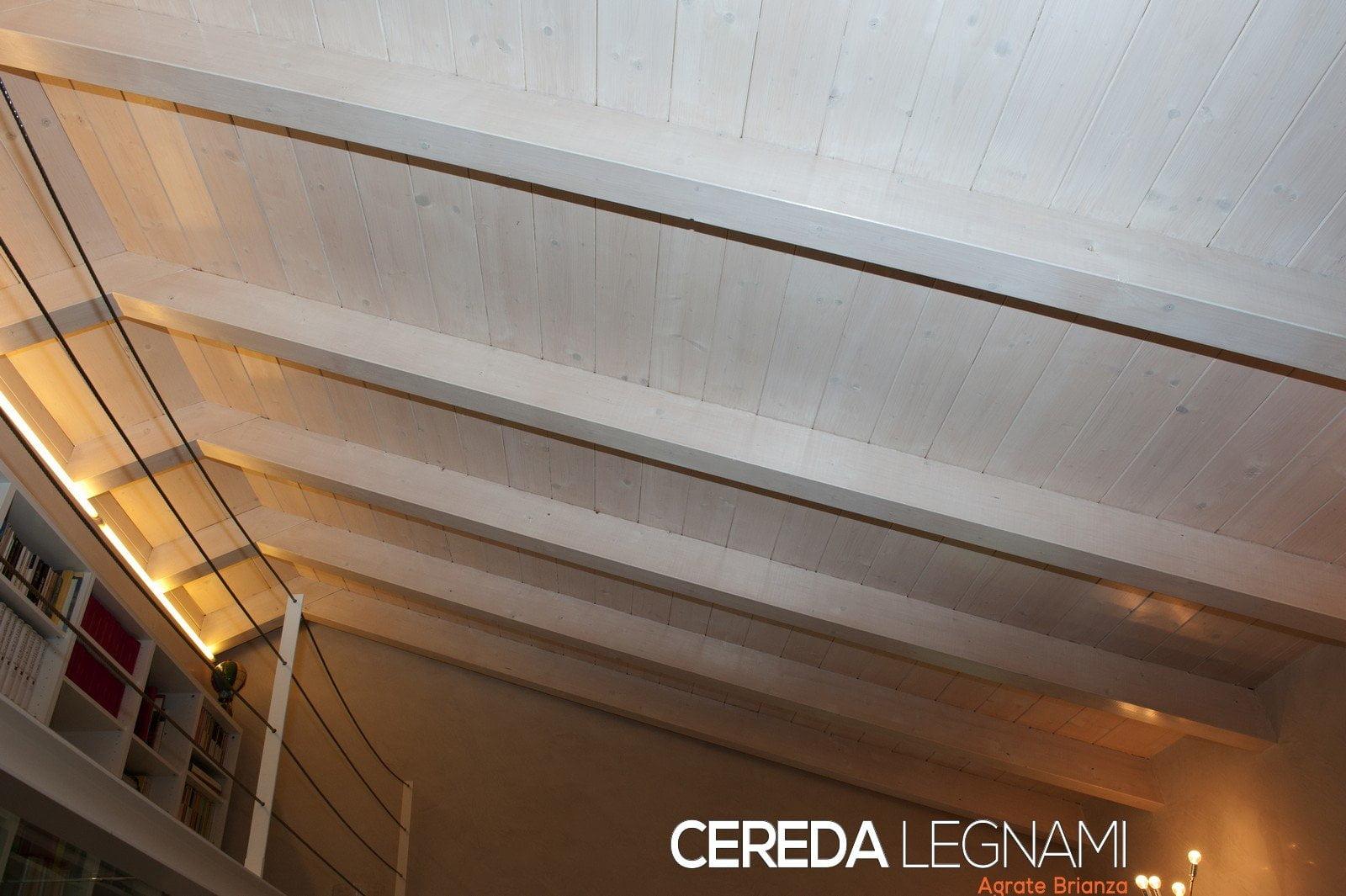 Tetti in legno cereda legnami agrate brianza for Rivestimento perline legno bianco