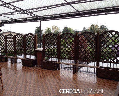 Griglie in legno per balconi cereda legnami agrate brianza for Cereda legnami