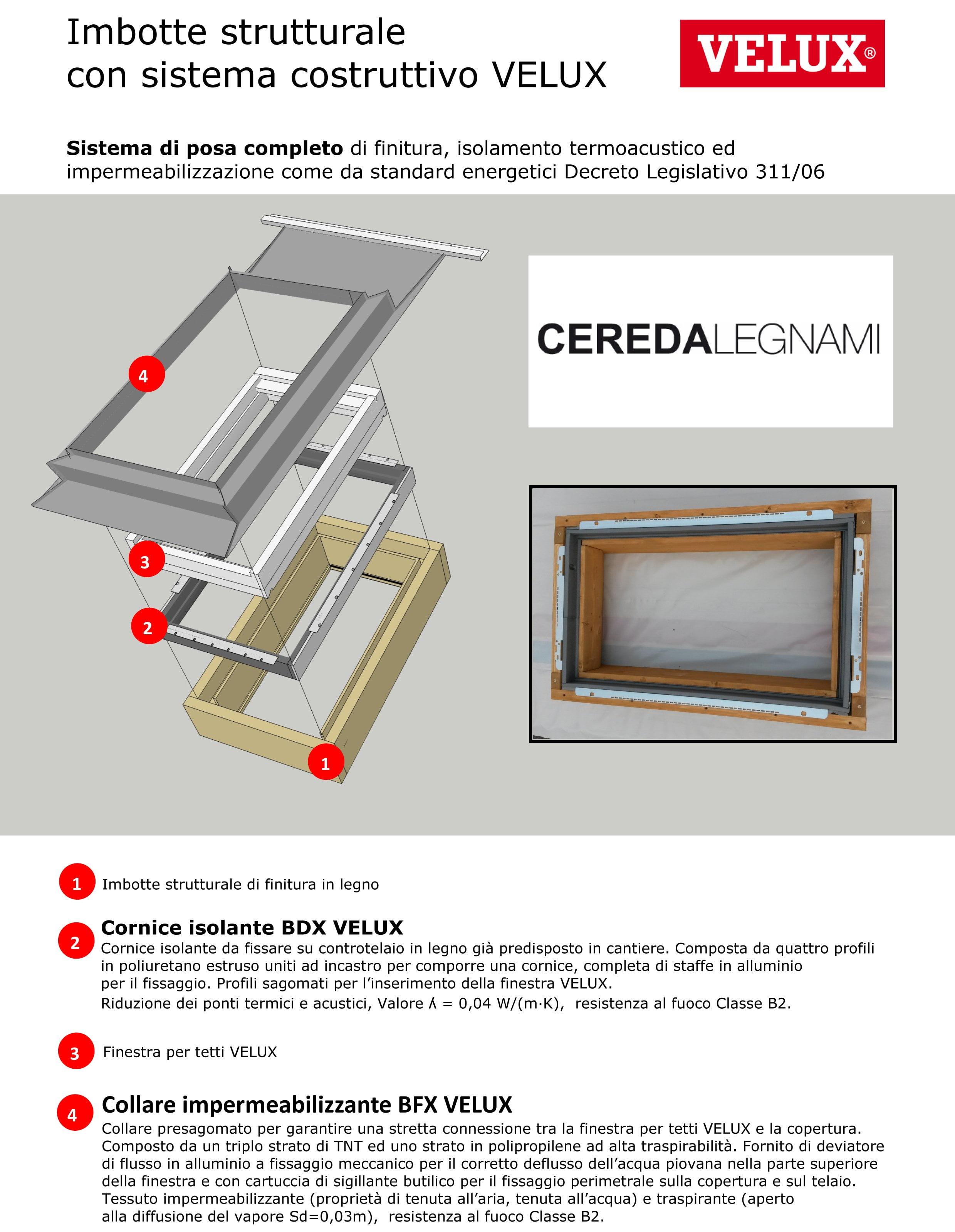 Rivendita di finestre velux cereda legnami agrate brianza for Velux tetto in legno