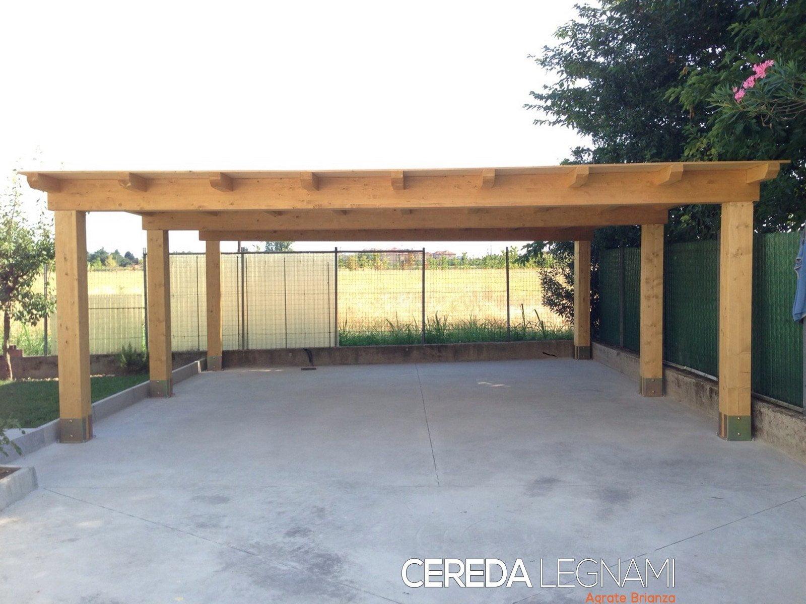 Box auto legno san zenone cereda legnami agrate brianza for 4 piani di box auto con abitazione