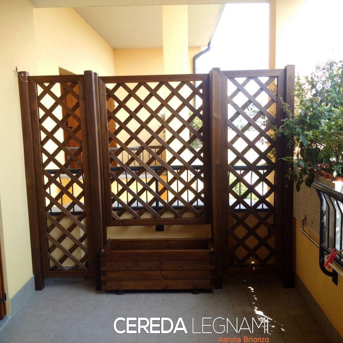 Griglie divisorie per balconi cereda legnami agrate brianza - Grigliati in legno ikea ...