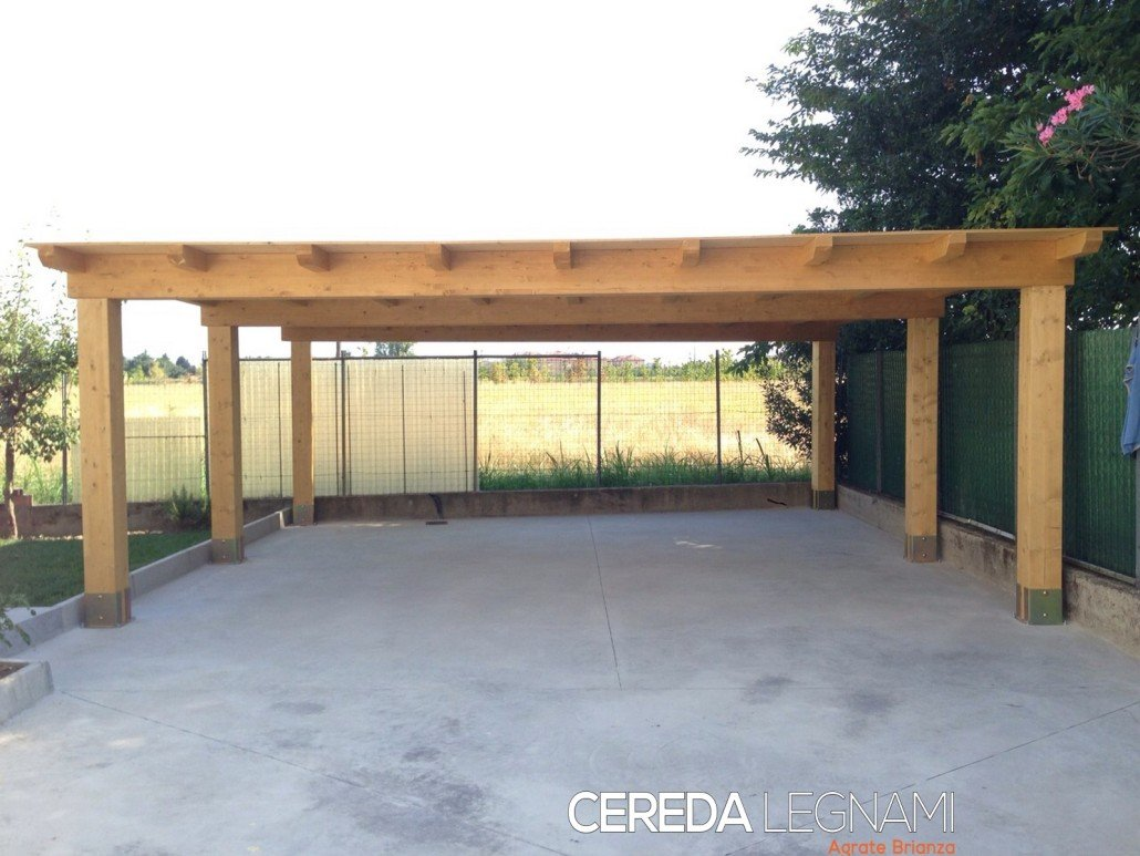 Produzione Box Auto Legno Cereda Legnami Agrate Brianza