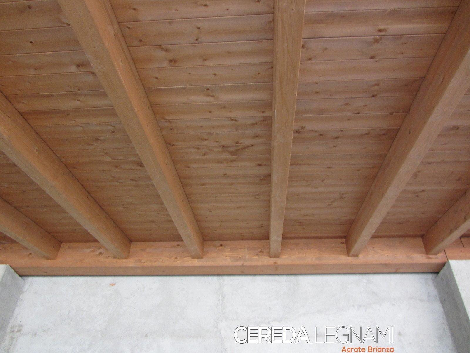 Soffitto In Legno Lamellare : Perline legno verniciata cereda legnami agrate brianza