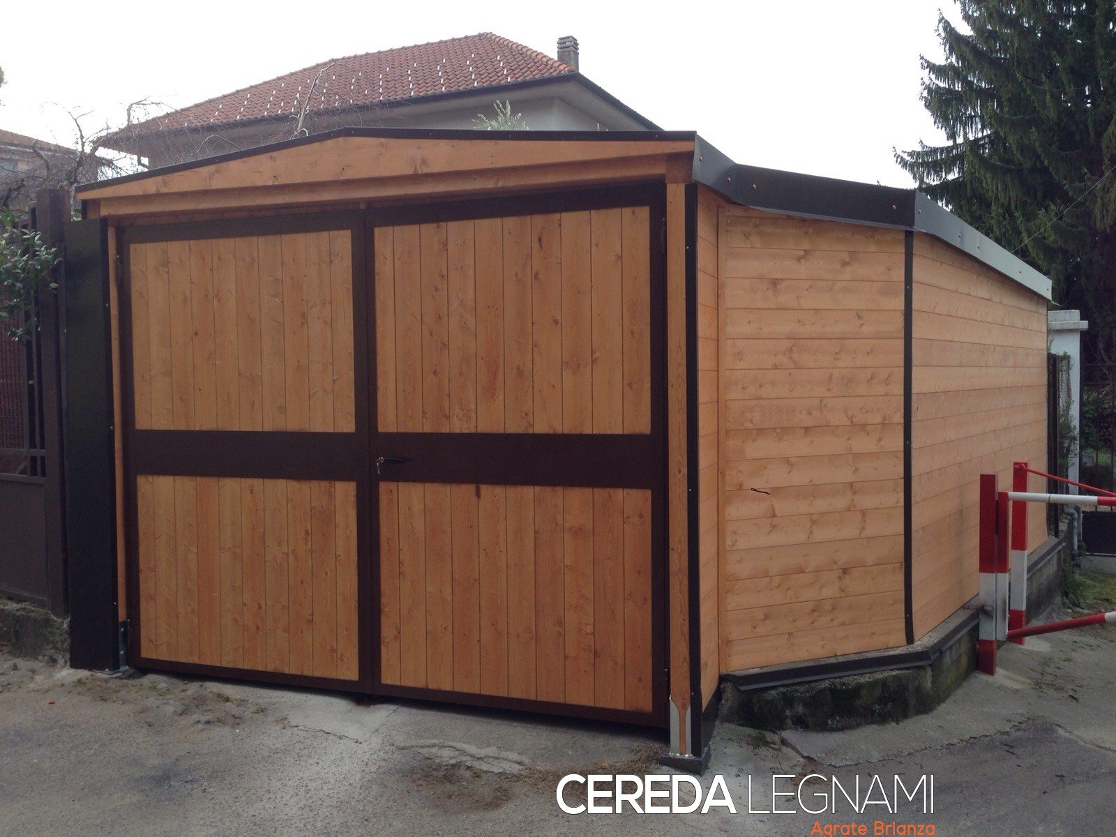 Carport legno lamellare cereda legnami agrate brianza for Due box auto