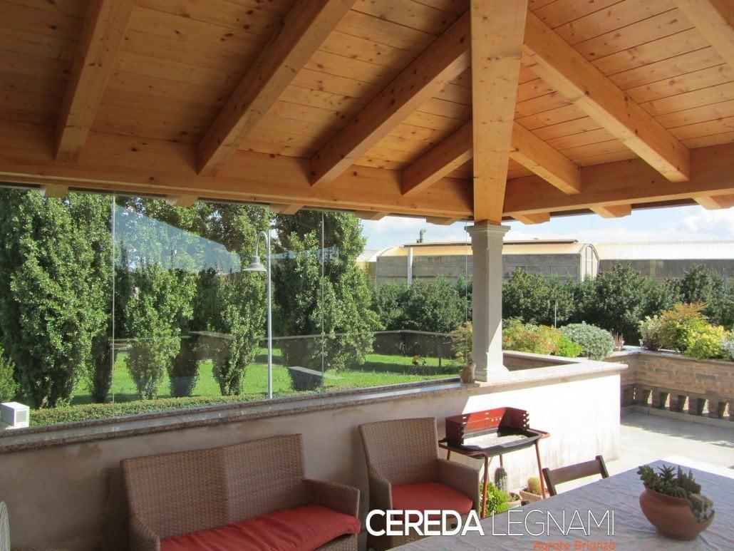 Tettoia terrazzo cereda legnami agrate brianza - Terrazzo giardino ...