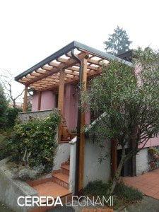 tettoia terrazzo - Cereda Legnami Agrate Brianza