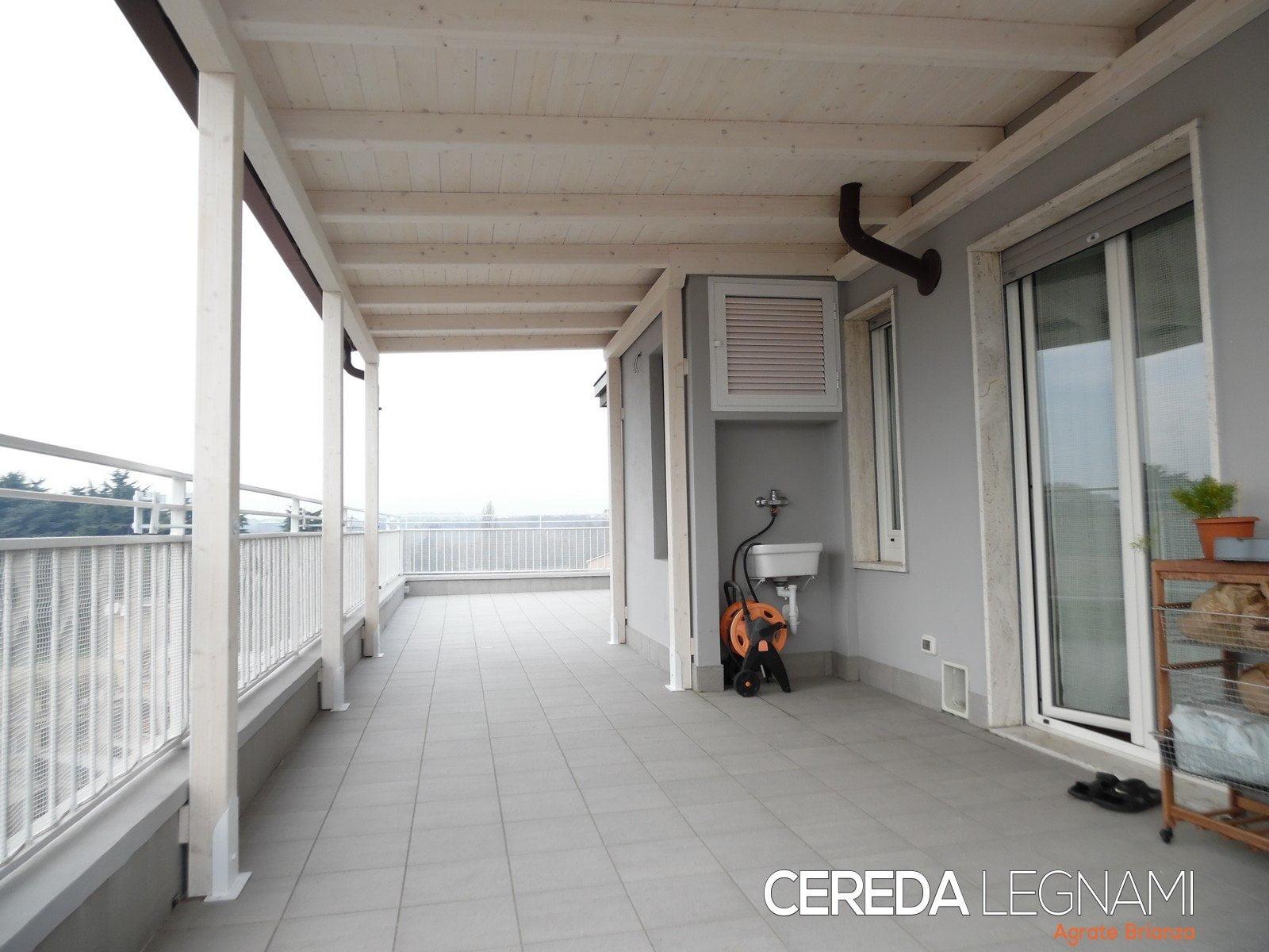 Tettoia terrazzi personalizzata su misura cereda for Cereda legnami