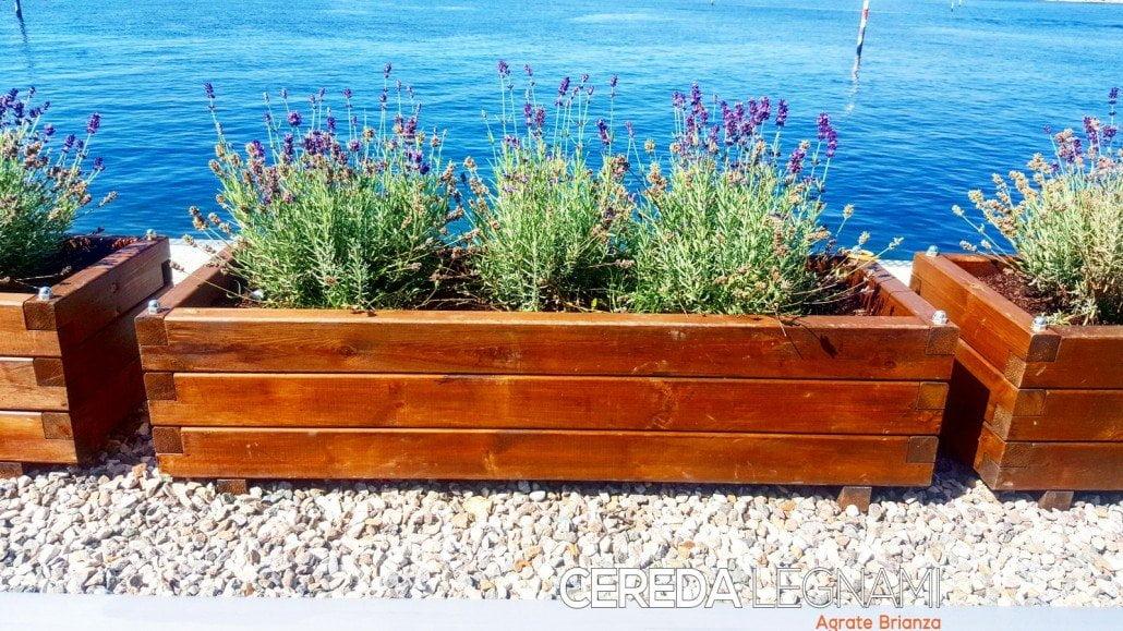 Vasi legno da esterno cereda legnami agrate brianza - Fioriere da esterno in pietra ...