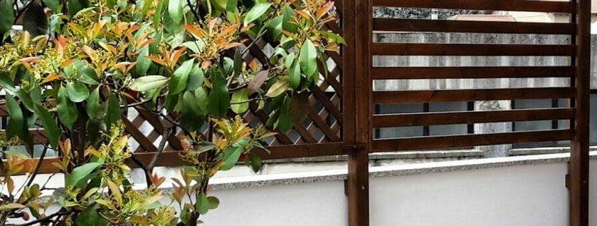 Griglie in legno per giardino cereda legnami agrate brianza - Fioriere in legno per giardino ...