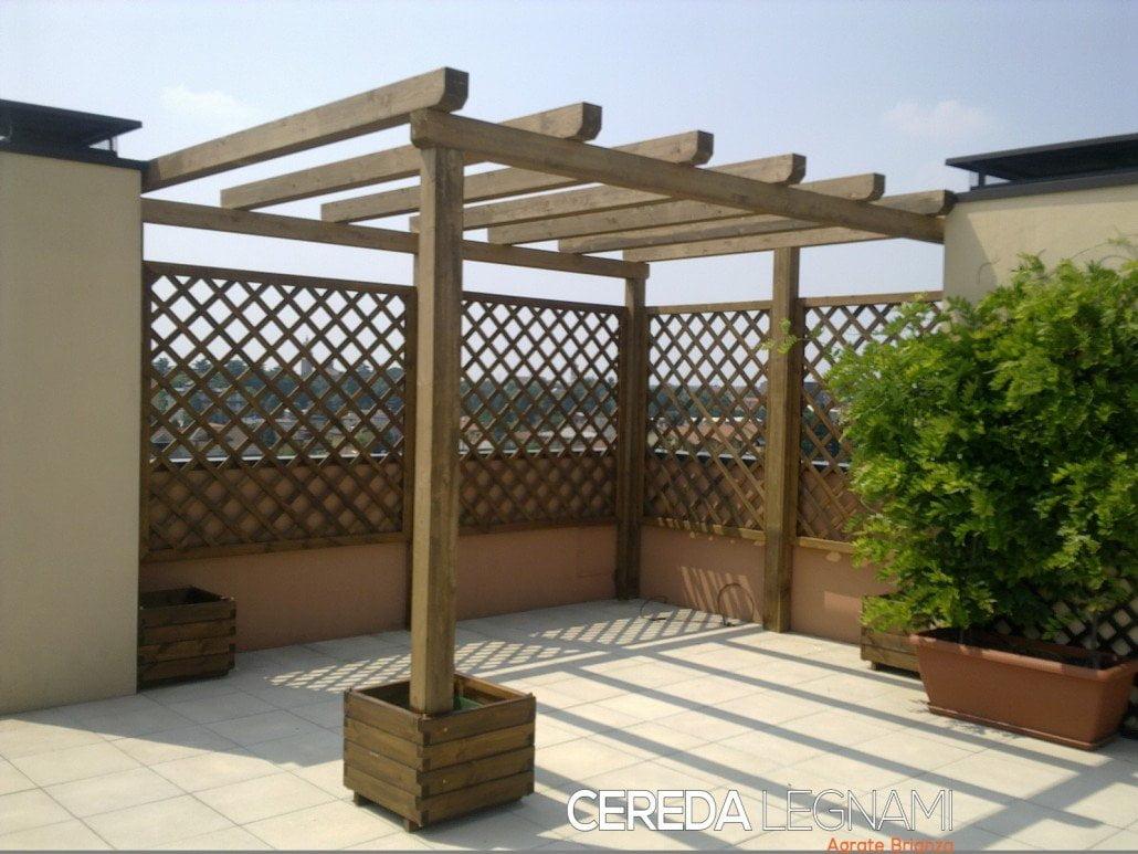 Grigliati in legno per terrazzi cereda legnami agrate for Grate in legno per balconi