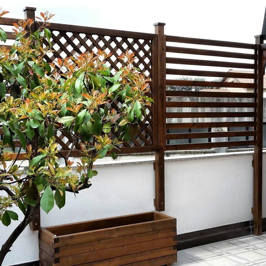 Pannelli grigliati per terrazzi e giardini cereda for Mobili per terrazzi e giardini