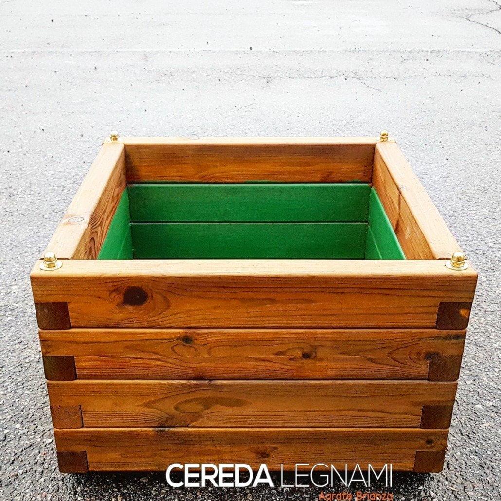 Fioriere legno grandi dimensioni cereda legnami agrate for Vasi di legno