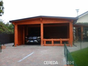 Tettoie in legno cereda legnami agrate brianza for Tettoie per auto ticino
