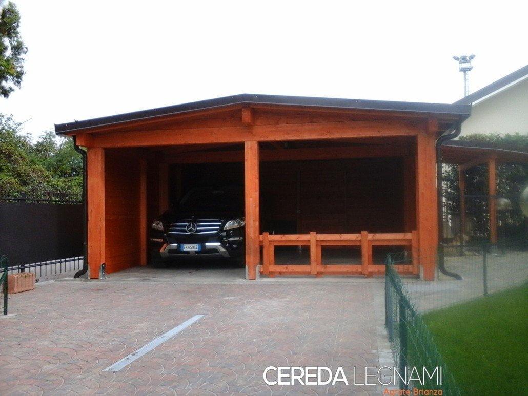 Tettoia legno per auto cereda legnami agrate brianza for Lamellare prezzi