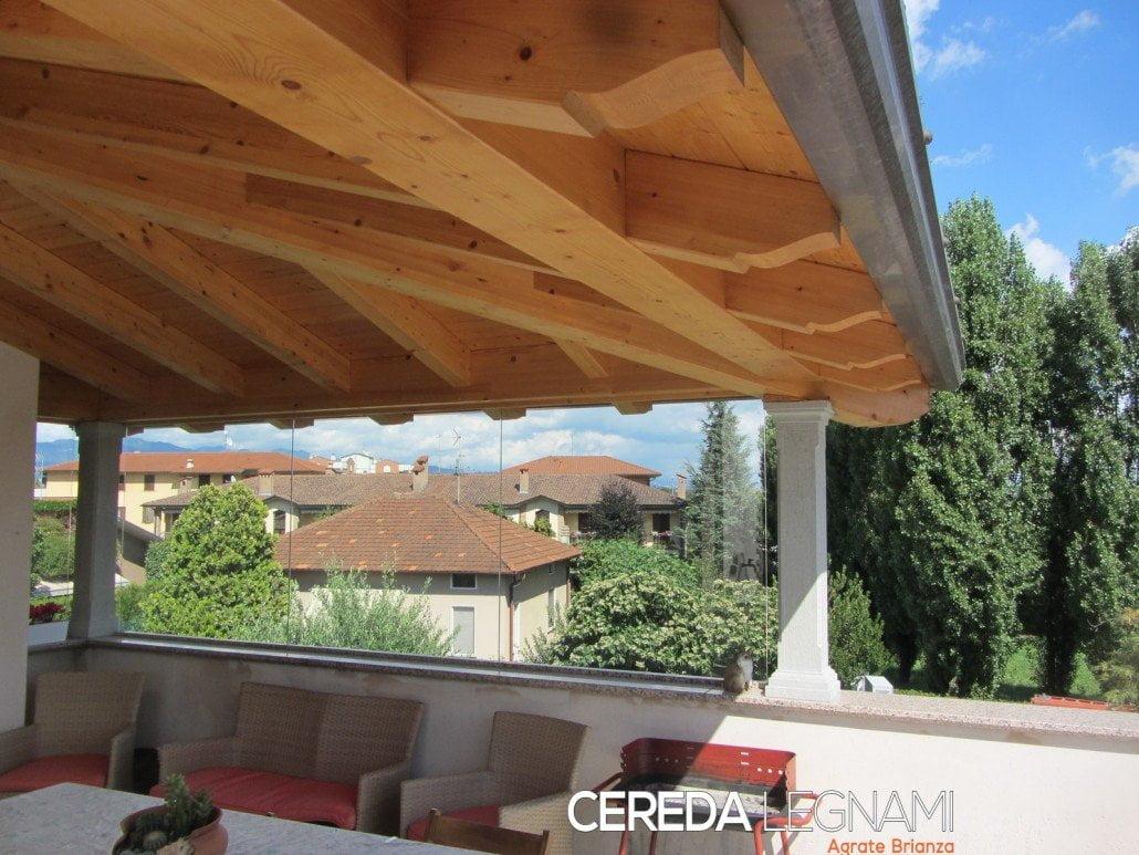 Tettoie in legno cereda legnami agrate brianza for Tetti in legno lamellare prezzi al mq