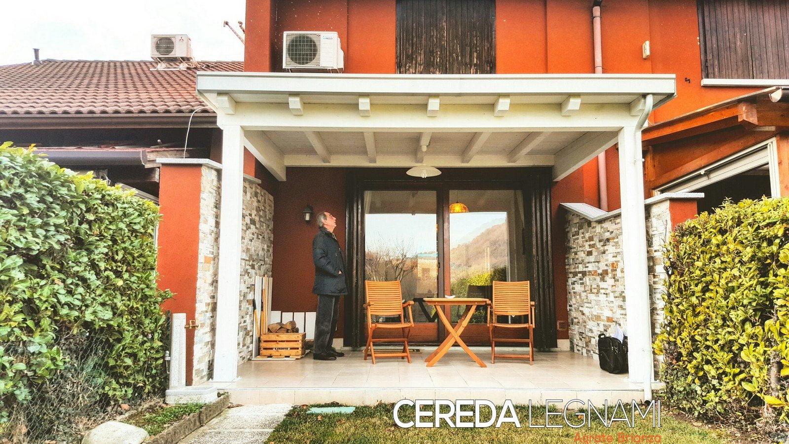 3 tettoie adossate in legno cereda legnami agrate for Cereda legnami