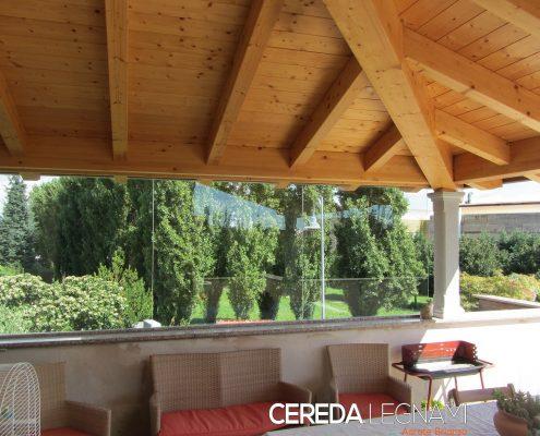 tettoia addossata per terrazzo