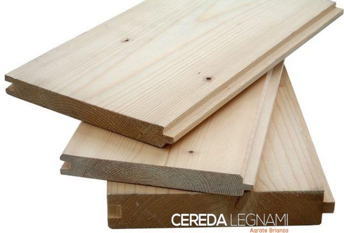 Finitura e fornitura di perline in legno e rivestimenti larice, abete e pino - Cereda Legnami Agrate Brianza