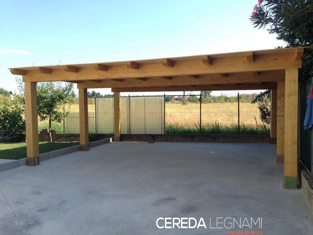 Garage carport e box auto in legno cereda legnami for Garage con veranda