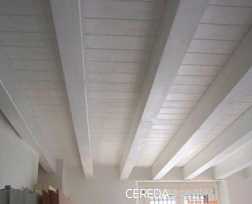 Soppalco in legno bianco su misura Agrate Brianza