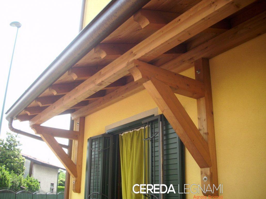 Pensiline ed ingressi in legno cereda legnami agrate brianza for Tettoia legno leroy merlin