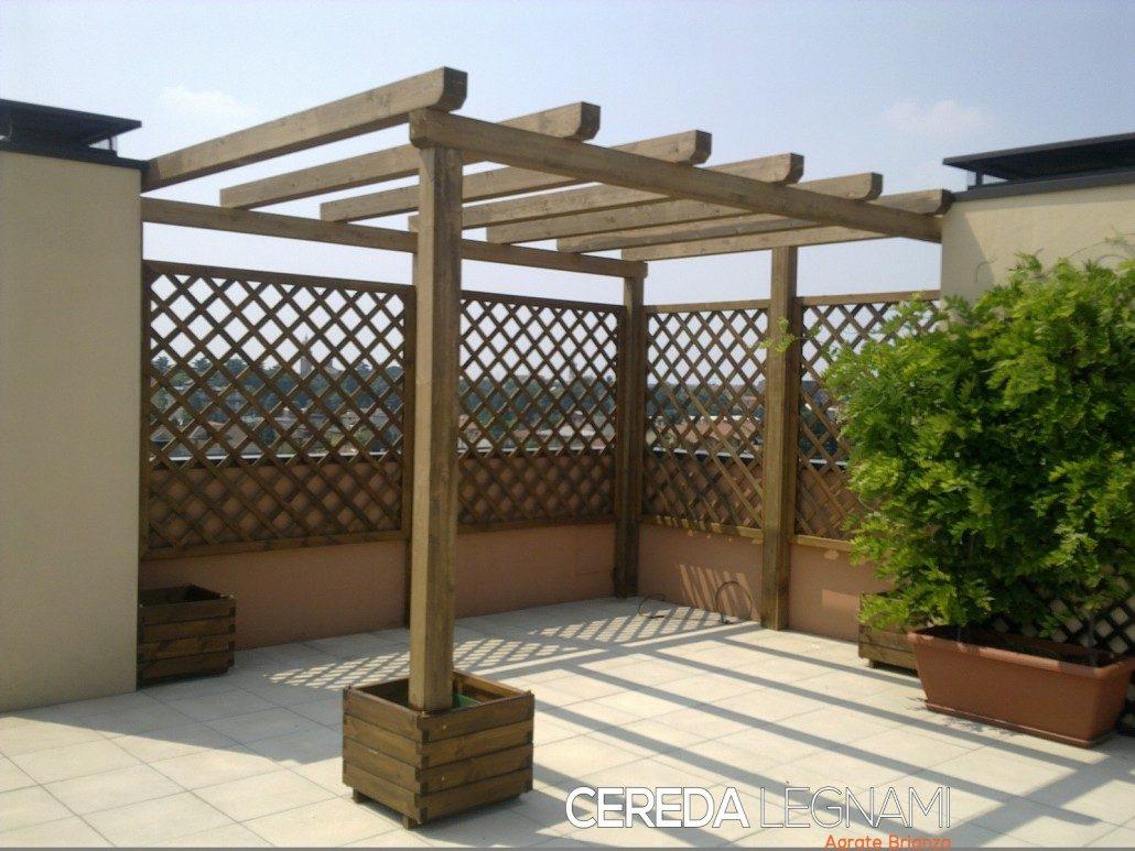 Pergole e pergolati in legno cereda legnami agrate brianza for Accessori per terrazzi e giardini