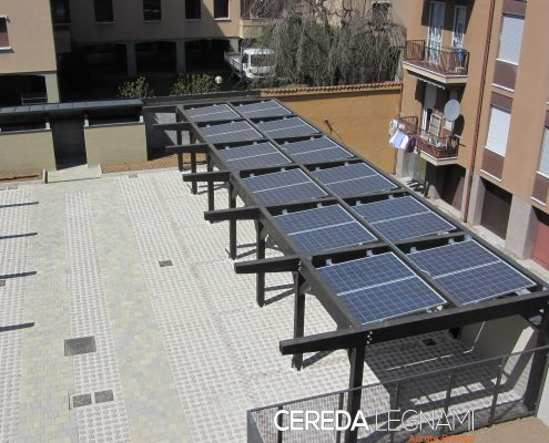 Pergolati per fotovoltaico e termico solare