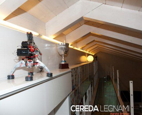 Sottotetto in legno realizzato da Cereda Legnami