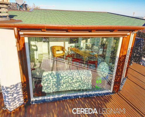 Realizzazione veranda in legno a Milano