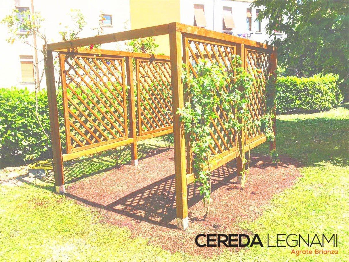 Pergole da terrazzo e giardino in legno 3 cereda legnami - Terrazzo in legno ...
