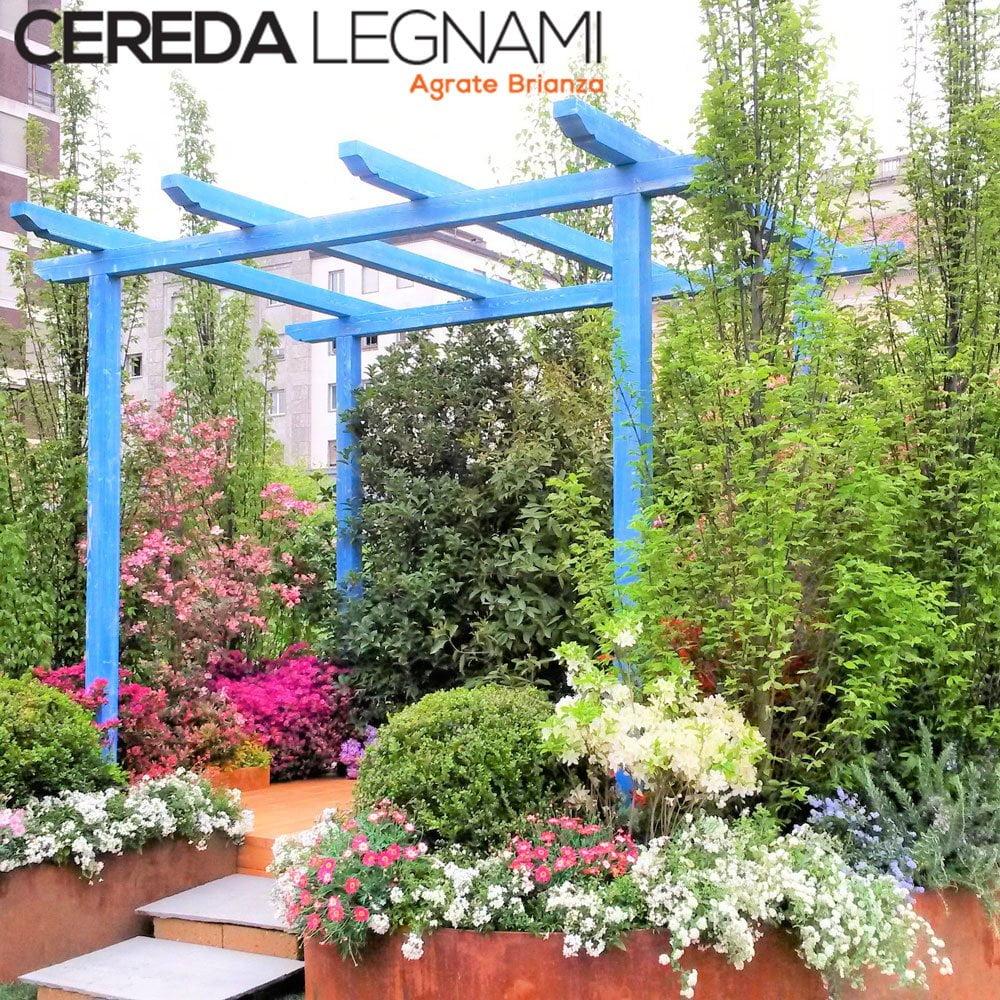 pergole da terrazzo e giardino in legno