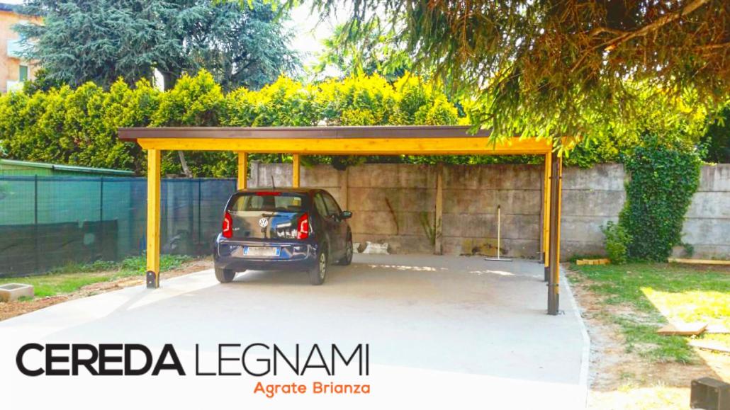 Excellent copertura in legno per auto realizzata da cereda for Costo aggiuntivo garage