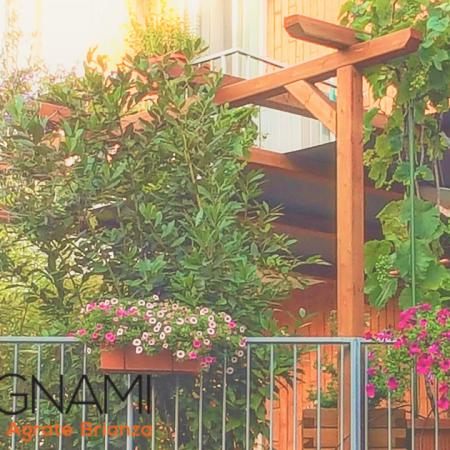 pergola da terrazzo e giardino in legno