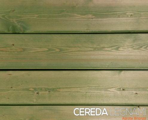 perlinato e dogato di legno abete verniciato