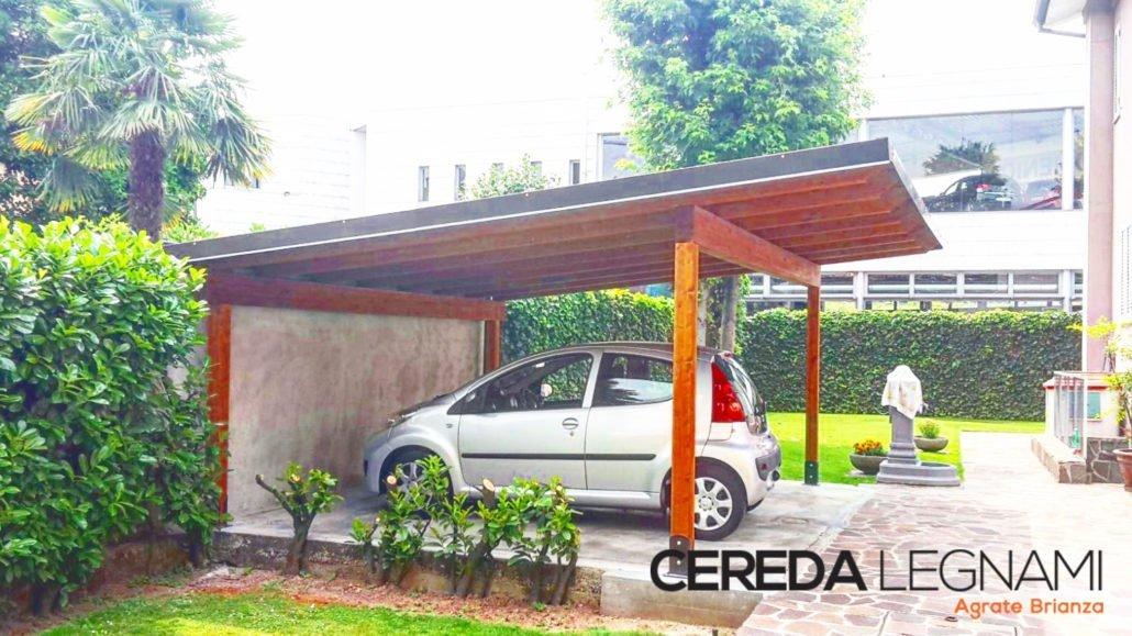Copertura per posti auto for Coperture in legno per auto usate