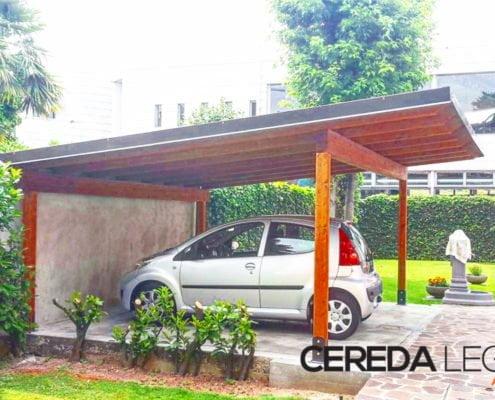 copertura per auto in legno brianza